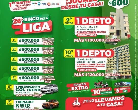 El Bingo de la Liga Salteña de Fútbol se sorteará el 7 de junio