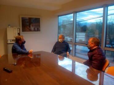 Chibán recibió al Intendente de Vaqueros Daniel Moreno