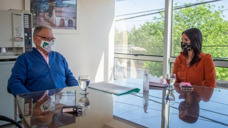 Sergio Chiban se reunió con la Secretaria de Deportes de la Municipalidad