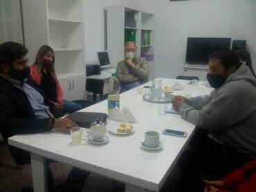 Sergio Chiban visitó La Caldera para reunirse con dirigentes del fútbol