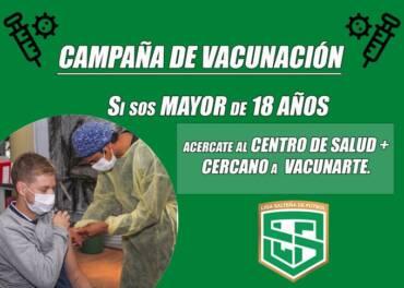 Vacunate y nos cuidamos entre todos